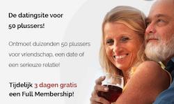 Gratis Full Membership bij Vijftigplusdating.nl