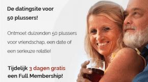 Vijftigplusdating.nl nu 3 dagen gratis!