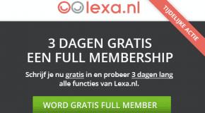 Full membership gratis bij Lexa!