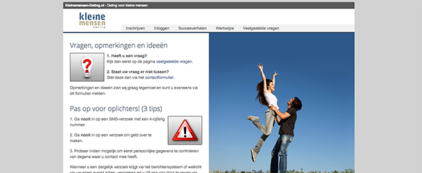 Start met daten op d datingsite voor plussers